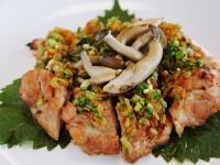 鶏のもろみ焼き(もろきゅう味噌)