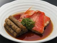 甘露溜(新ごぼうと金目鯛の煮つけ)