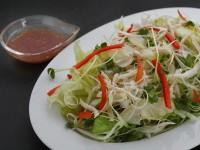 キャベツドレッシング(4種の野菜と蒸し鶏のサラダ)