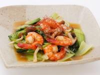 B海老とチンゲン菜の韓国風炒め(サムゲタン風鍋の素)2